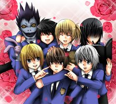 :.DNHostClub.: by vachuu (DeviantArt)     Death Note che fa cosplay di Host Club... c'è qualcosa di decisamente sbagliato in tutto ciò! xD