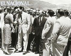 Juan Domingo Perón, Presidente de la Argentina en 1973. En los Paseo Los Próceres, visita a Venezuela. Foto: (Archivo / El Nacional)