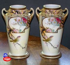 2 Large Nippon Vase Matching Imperial Nippon Vases