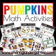 Pumpkin Math Activities - Sharing Kindergarten Addition Games, Addition And Subtraction, Kindergarten, 12th Maths, Tens And Ones, Halloween Math, Christmas Math, Math Stations, Math Lessons