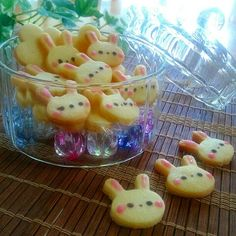 Rabbit cookies (Pair with Apple bunnies for a cute Bunny themed Bento!)