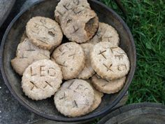 """Hardtack, Romans had that too: 3 cups whole wheat flour 1 teaspoon salt 1 tablespoon olive oil. Mix it all up adding water, a little at a time, to make a stiff dough.  Form it into flat rounds 4"""" wide on ungreased cookie sheets, poke some holes in them, and put in oven at 250 degrees for 2 hours. Break one in half--if it is hard and dry all the way through, it's done, but if not, give it another hour."""