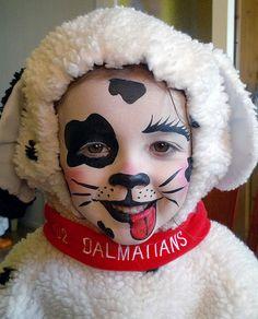Dalmation face paint