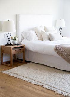Neutral bedroom in Jenni Kayne president Julia Hunter's LA home.