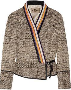 ShopStyle: Etro Woven wrap jacket
