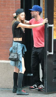 Behati Prinsloo and Adam Levine Hang Out in New York, Sept. 2, 2013