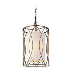 Featuring a candelabra base, a linen shade allows warm light to shine through. Hand-worked wrought iron metalwork in a silver gold finish will easily match to your home's traditional/contemporary style. Beautiful in a set of 3 over a kitchen island, lengthy table or by itself in an entryway.