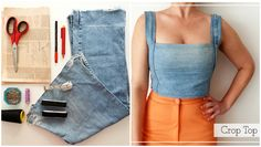 Top From Denim Legs
