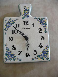 Vintage ceramic clock with Kienzle mechanism