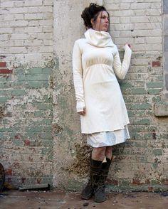 Short Let it Snow Dress hemp/organic cotton by gaiaconceptions, $140.00