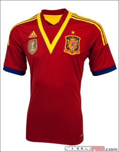adidas Youth Spain Home Jersey 2013...$58.49