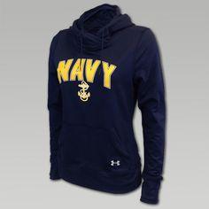 UA Navy Womens Logo Hood   ArmedForcesGear.com