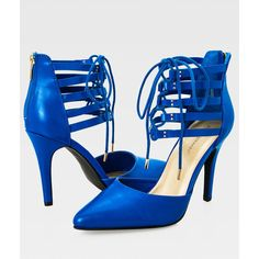 Ashley Stewart Wide Width Pointy Toe Lace-Up Pump (€49) ❤ liked on Polyvore featuring shoes, pumps, pointed toe stilettos, pointed toe high heel pumps, pointed-toe pumps, wide pumps and lace up stilettos