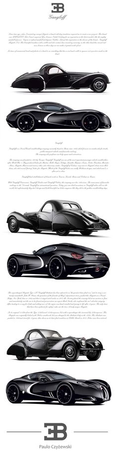 Bugatti Gangloff concept car, Invisium by Paweł Czyżewski.