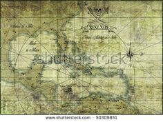 #Caribbean - #old #map