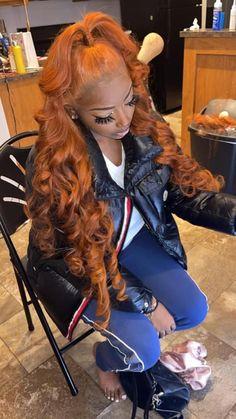 Frontal Hairstyles, Baddie Hairstyles, Weave Hairstyles, Ponytail Styles, Curly Hair Styles, Natural Hair Styles, Hair Ponytail, Birthday Hair, Hair Laid