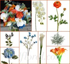 ... fall wedding bouquets ...   Chante's Vibrant Orange and Blue Inspiration