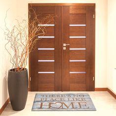 LifeStyle-Mat 100826 Home, rutschfeste und waschbare Fußmatte, ideal für den Eingang, die Garderobe oder Küche, 67 x 110 cm, braun / grau