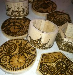 Work in Progress: Steampunk Henna Designs on Wood Boxes. How To Do Henna, Cool Henna Designs, Henna Mehndi, Henna Tattoos, Henna Party, Tattoo Needles, Future Tattoos, Wood Boxes, Pyrography