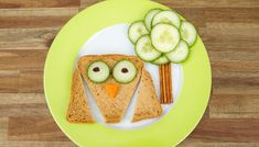 Foodie Eule Toast Gurke lecker lustig Salzstangen Soletti