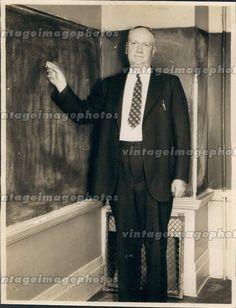 1933 Ericksen Utah University Paul Conant Business Suit Classroom Press Photo