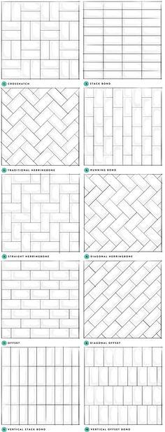 Subway Tile Designs Inspiration | A Beautiful Mess | Bloglovin' #BathroomRemodel