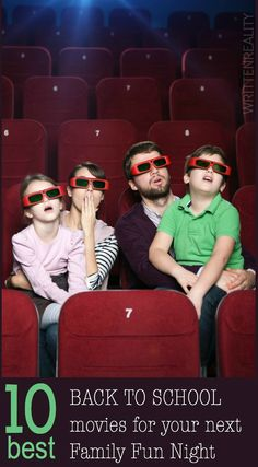 10 BEST Back to School Movies for Family Fun Night {writtenreality.com} #family