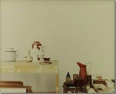 Luigi Ghirri Photograph of Atelier Morandi, Still Life Images, Contemporary Photography, Japanese Photography, Italian Artist, Creations, Design Inspiration, Bologna, Interiors, Composition