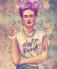 Frida Kahlo Daft Punk