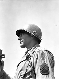 First Special Service Force, The Devil's Brigade, (Unidentified sergeant of the First Special Service Force, wearing the distinctive USA-CANADA spearhead shoulder title, Anzio beachhead, Italy, 20 April 1944.)  Read more: http://histomil.com/viewtopic.php?f=338&t=3918&start=1240#ixzz3SXKzy41A