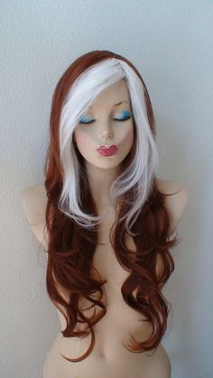 Summer Special // Rogue from X Men cosplay wig. Copper by kekeshop