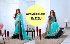 #VYOMINI - #FashionForTheBeautifulIndianGirl #MakeInIndia #OnlineShopping #Discounts #Women #Style #EthnicWear #OOTD #Saree  Only Rs 1676/-, get Rs 355/- #CashBack,  ☎+91-9810188757 / +91-9811438585 ..... #Bipasha