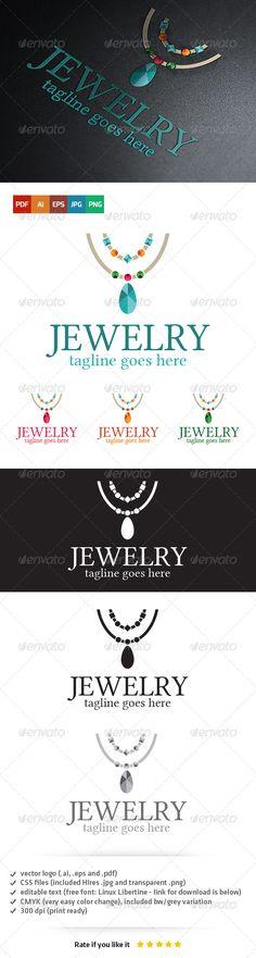 Jewelry Logo — Vector EPS #jewelry #jewel • Download here → https://graphicriver.net/item/jewelry-logo/5403783?ref=pxcr