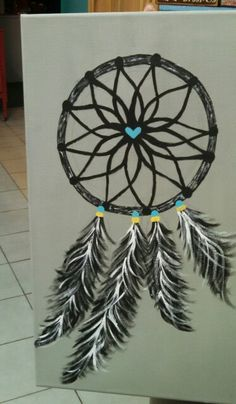 Ideas For Canvas Art Painting Acrylic Ideas Canvases Dream Catcher Canvas, Dream Catcher Painting, Diy Canvas Art, Acrylic Canvas, Canvas Paintings, Canvas Crafts, Canvas Ideas, Stencil, Canvas Mobile