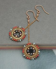Drop+Dangle+Earrings+in+Gold+Coral+Light+by+cathycortezstudio,+$38.00