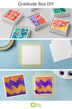 In preparation for this Thanksgiving,  try a new project to share with your loved ones - DIY gratitude boxes! Use a simple watercolor technique to create a vibrant and unique gift.