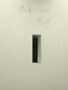Matthew Barney at SFMOMA. (The grey scrawl above the window) Zippertravel.com Digital Edition
