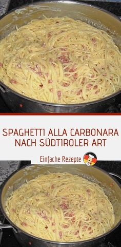 Spaghetti alla carbonara nach sdtiroler art sprainnews one pan pasta best pasta from scratch made in one pan throw all ingredients in the pan and dinner is ready in 20 mins rasamalaysia com Easy Healthy Recipes, Healthy Snacks, Easy Meals, Easy Snacks, Eating Healthy, Spagetti Carbonara, Pasta Spaghetti, Pot Pasta, Pasta Food