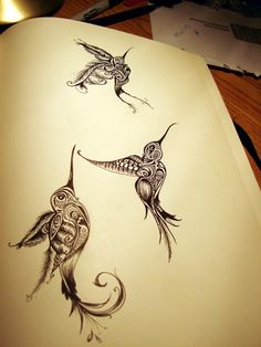 Sparrows/swallows tattoo? Love!