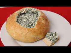Spinach Soup Homemade Spinach Dip Recipe - Laura Vitale - Laura in the Kitchen Episode 421 - Cream Cheese Spinach, Spinach Soup, Spinach Bread, Dip Recipes, Cooking Recipes, Healthy Recipes, Kitchen Recipes, What's Cooking, Dinner Recipes