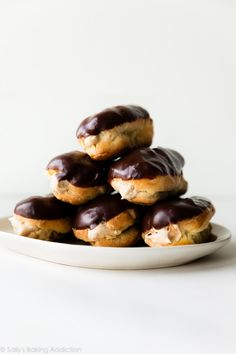 Homemade Eclairs with Peanut Butter Mousse Filling