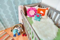 Boho nursery, baby room, bright color baby girl nursery, creative nursery, little girl room, modern nursery