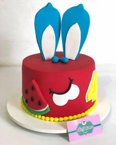 Baby 1st Birthday, Birthday Cake, Bolo Mickey E Minnie, Little Cakes, Daisy, Toys, 14th Birthday, 5 Years, Thinking About You
