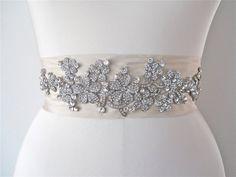 SALE  30 OFF    Silk belt sash with floral by SabinaKWdesign, $195.00