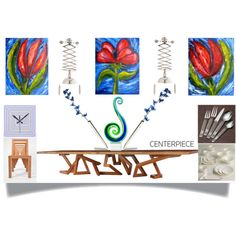 """""""Modern centerpiece for dining table"""" by mark-malinowski on Polyvore Modern Centerpieces, Modern Design, Dining Table, Tapestry, Polyvore, Home Decor, Hanging Tapestry, Tapestries, Decoration Home"""