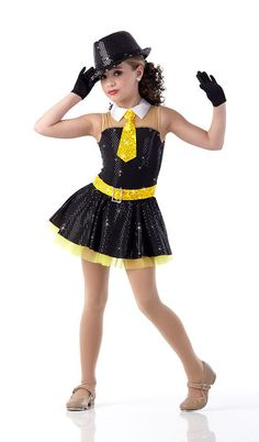 Smooth Jazz Dance Costume Tap Tux Chicago Gangster Dress Yellow Sequin New | eBay