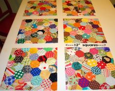 Great hex quilt by @Sara Eriksson Joyner. Love these bright colors and the square blocks!