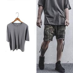 Half Sleeve Rough Cut T-Shirt   Features a seamless Sleeve Finish and Drop-Shoulder Oversized Fit. We recommend buying a size up!  ❌✖️️❌✖️️  longline, longline clothing, online shopping, streetwear, urbanwear, hba, nike, steezy, daily look, casual wear, outfit society, culture kings
