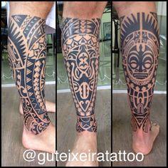 4 sessões de 4 horas cada mais ou menos para fechar toda a perna. #maoritattoo…