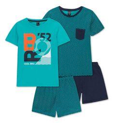 2 pyjashorts dans turquoise